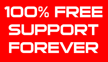 100% Free Support Forever